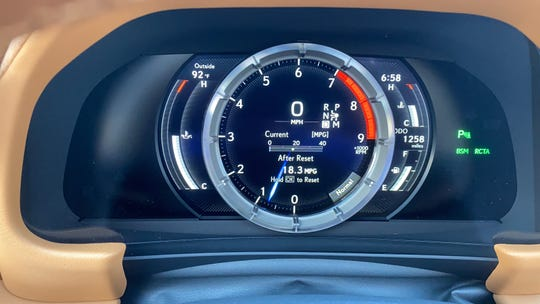 The  The 2021 Lexus LC 500 convertible's gauges look like a precision timepiece.