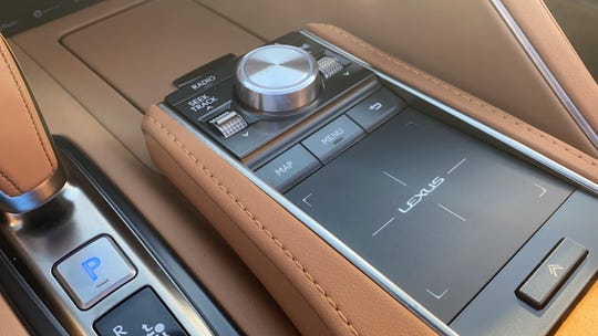The  2021 Lexus LC 500 convertible's touch pad is a poor way to control features in a moving vehicle.