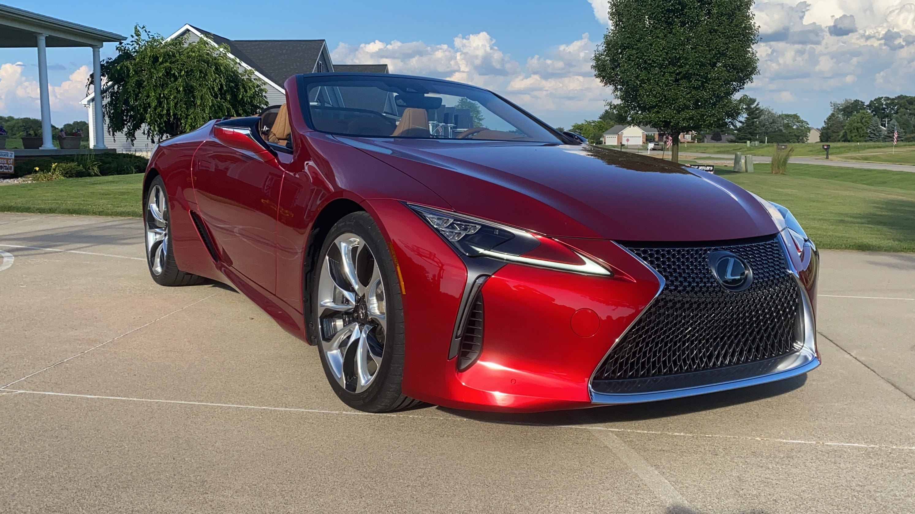 2021 lexus lc 500 convertible takes the brand's style to