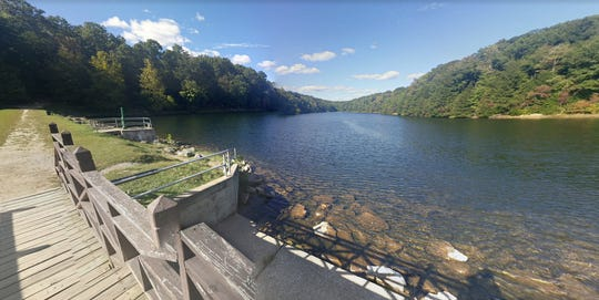 Rose Lake is shown in Hocking Hills State Park in Logan, Ohio.