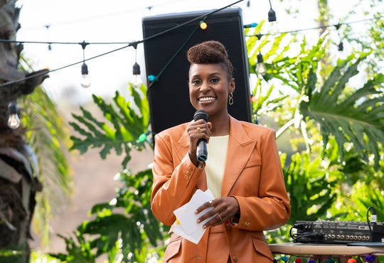 "This image released by HBO shows Issa Rae in a scene from the fourth season premiere episode of ""Insecure."" Nominations for the next Emmy Awards will be announced on Tuesday, July 28."