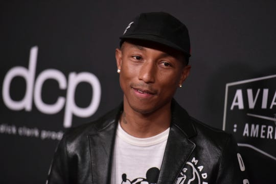 Grammy-winners including Pharrell Williams, above, the Beastie Boys and Nine Inch Nails' Trent Reznor have a chance of winning their first-ever honors at the Emmy Awards.