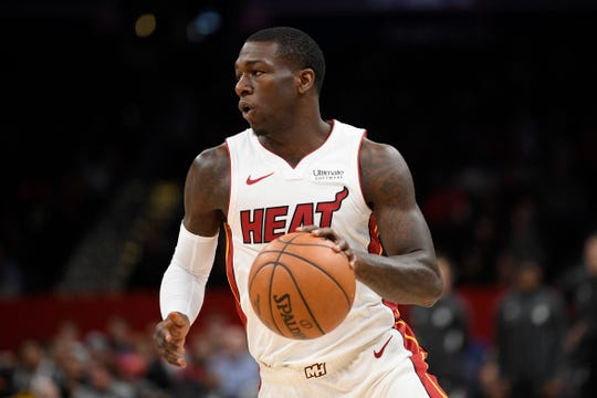 Kendrick Nunn is averaging 15.6 points and 3.4 assists per game with the Miami Heat this season.