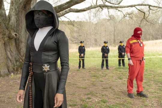 "This image released by HBO shows Regina King in a scene from ""Watchmen."""