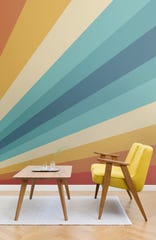 Cheer is one of six prints in MuralWallpaper's latest collection, all inspired by the 1970s.