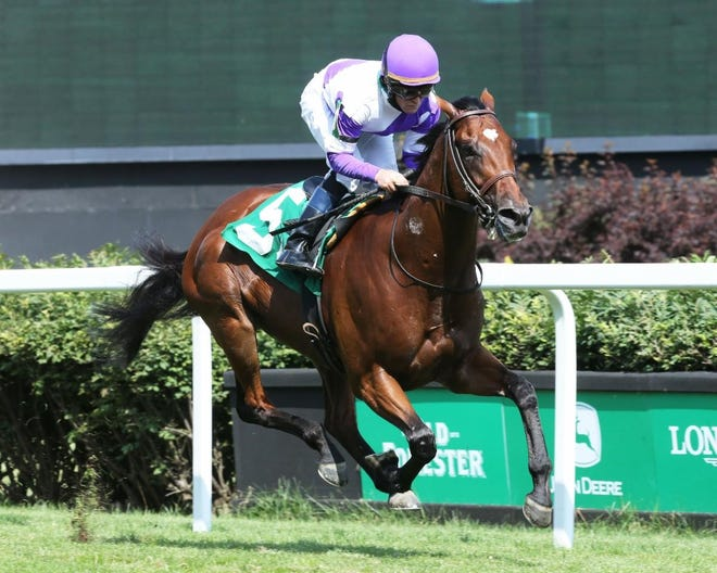 James Graham guided Spectacular Gem to victory in a tough Churchill Downs allowance race.