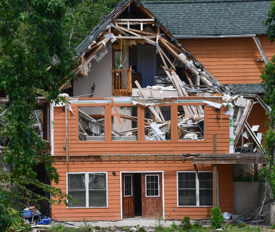 A home on Ploma Drive in Seneca is unrepaired Tuesday, July 28, 2020. It was almost four months ago when an EF3 tornado ripped through Seneca the morning after Easter.