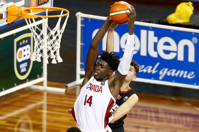 Five-star center Enoch Boakye, of Brampton, Ontario, committed to Michigan State on Tuesday.