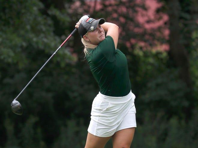 Mackenzie Hahn wins the Badger Mutual Women's Amateur golf tournament on Tuesday.