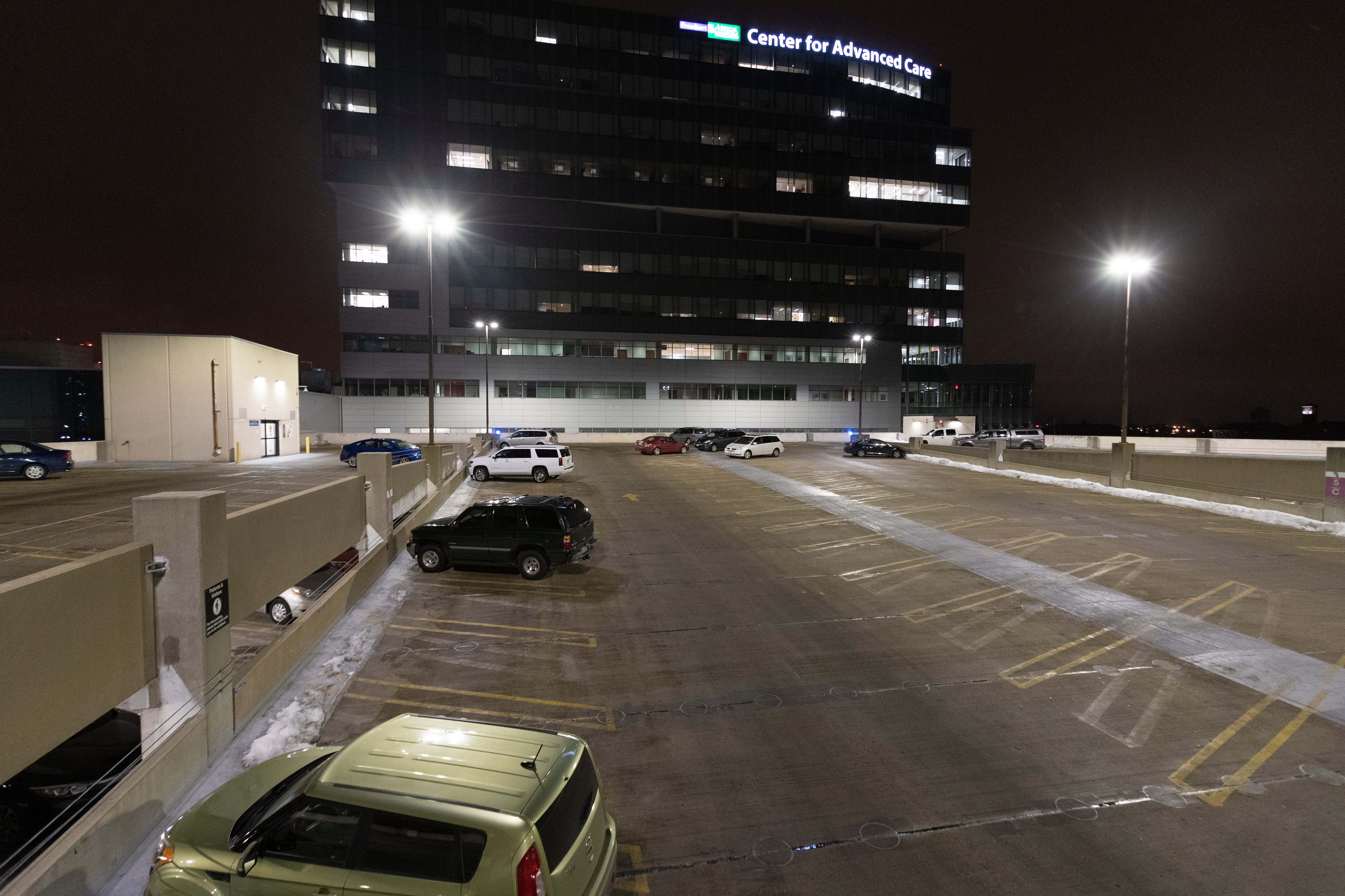 The roof top level of parking structure 1 is shown Tuesday, February 25, 2020 at  Froedtert & the Medical College of Wisconsin in Wauwatosa, Wis. The Milwaukee Journal Sentinel enlisted the aid of an architectural security consultant to evaluate parking ramps at five Milwaukee hospitals.MARK HOFFMAN/MILWAUKEE JOURNAL SENTINEL, Wis.