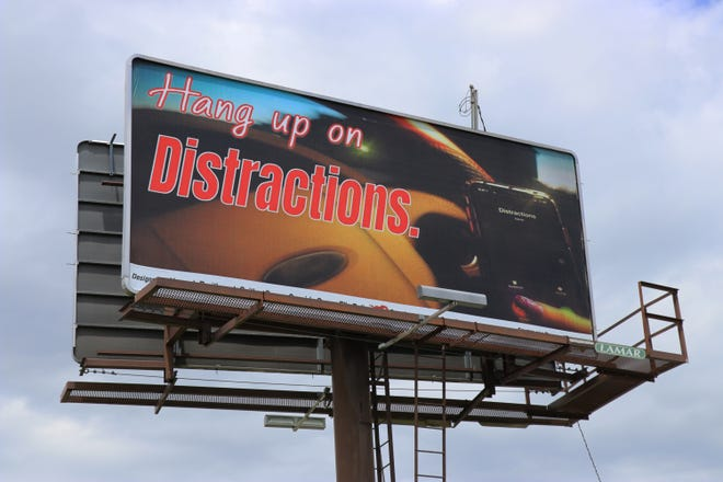 """The winning billboard, titled """"Hang Up on Distractions,"""" made its debut on Tuesday and can be found along Route 74 nearHanover Toyota, located at 1830 Carlisle Pike."""
