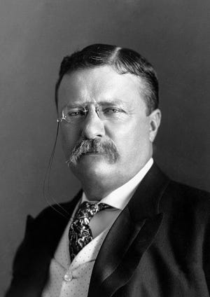 President Teddy Roosevelt came to Richmond at least six times. With the exception of Benjamin Harrison, who stayed here for an extended visit due to the Morrison Will case, Roosevelt is the president who visited the city the most.