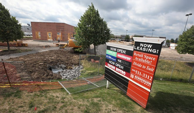 Construction continues on a Chick-fil-A restaurant in Marketview Commons plaza near Jefferson Road in Henrietta on Monday, July 27, 2020.