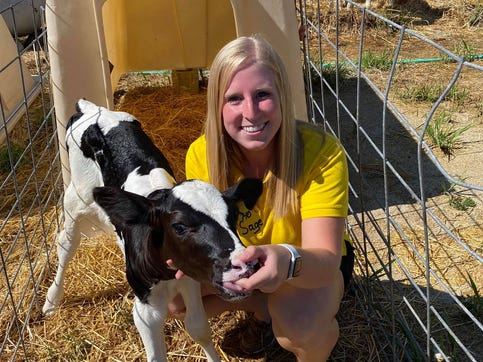 Emily Franke is still working her internship for Mayer Farms Beef in Slinger.