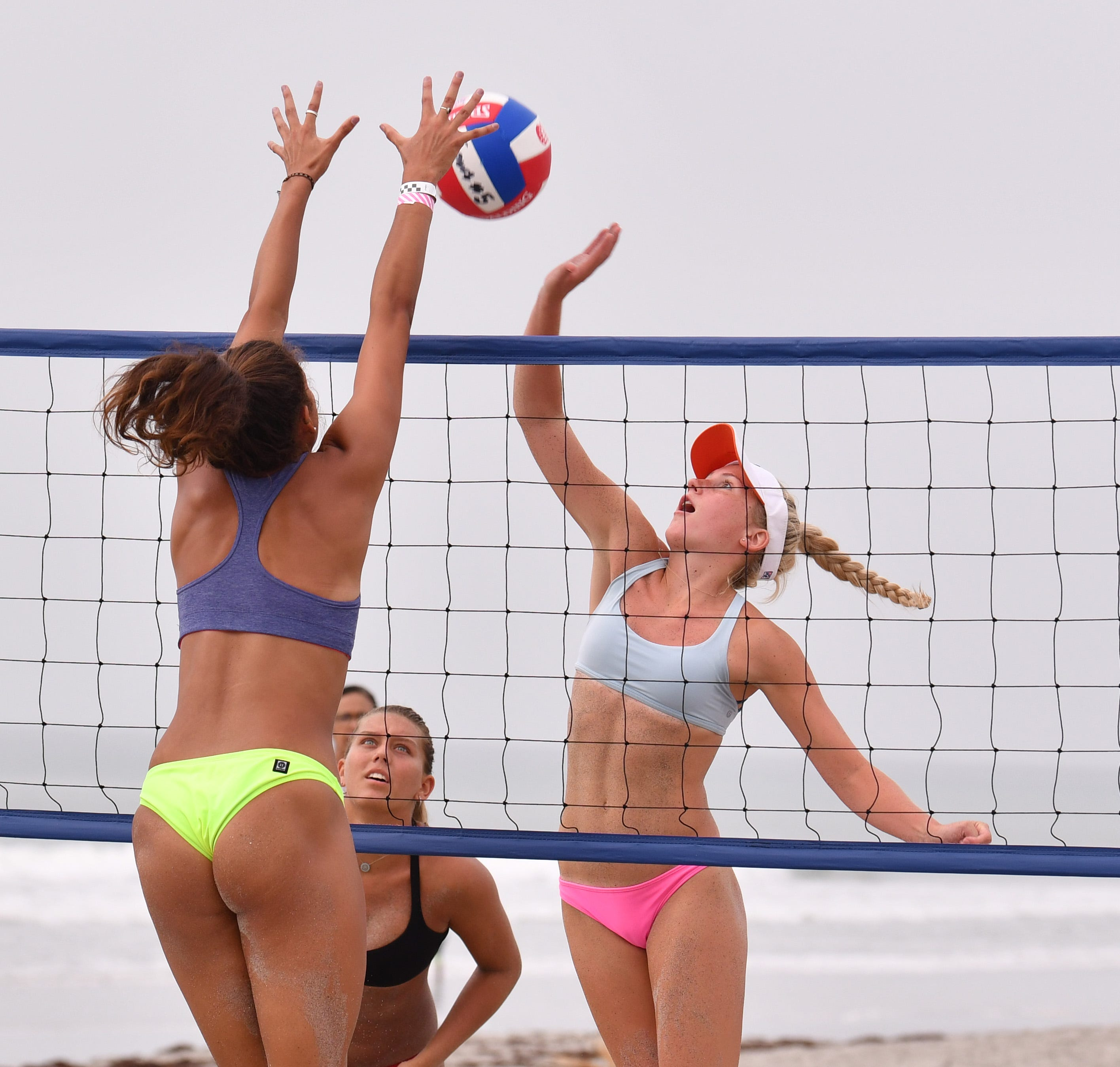 Girls Beach Volleyball Elite In Cocoa Beach For Aau Junior Olympics Competition Mims Florida