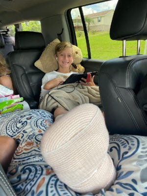 Carson Dicks is expected to make a full recovery from his shark bite at New Smyrna Beach, Fla., his mother said. For the next six weeks, he will be staying off his foot.