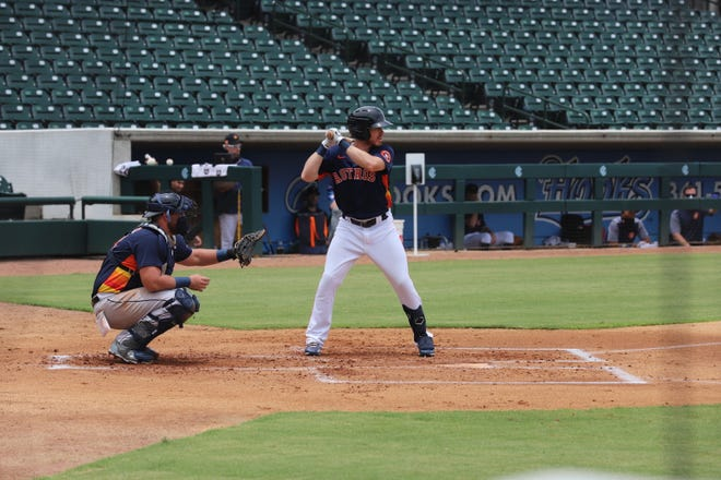 The Houston Astros reserve squad held an intersquad game at Whataburger Field on Wednesday, July 29, 2020. Whataburger is the Astros alternative training site for the 2020 season.