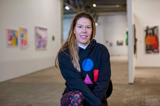 MOCAD Executive Director, Elysia Borowy-Reeder is photographed in the galleries of MOCAD in Detroit, Mich., Wednesday, October 9, 2019.