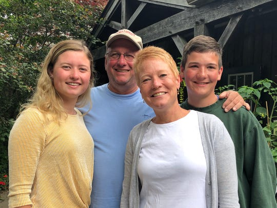 From left, Amy, Jack, Jennifer and Griffin Stockburger on Martha's Vineyard in June 2019. Jennifer Stockburger is a mechanical engineer who helped developed a list of safe and reliable used cars for teenagers. Her son, Griffin, is 16 and driving with a learner's permit.