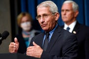 In this June 26, 2020, file photo Director of the National Institute of Allergy and Infectious Diseases Dr. Anthony Fauci speaks at a news conference.