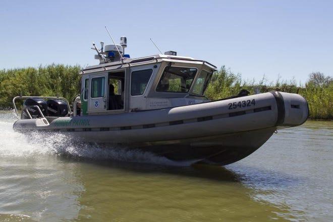 A US Border Patrol SAFE boat.