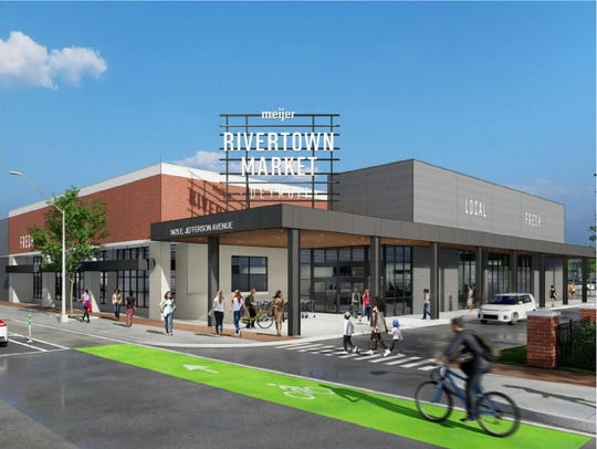 Construction begins this fall onMeijer Rivertown Market at 1475 E. Jefferson in Detroit.