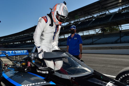 Jimmie Johnson underwent his first-ever IndyCar test with Chip Ganassi Racing on Tuesday on the Indianapolis Motor Speedway road course.