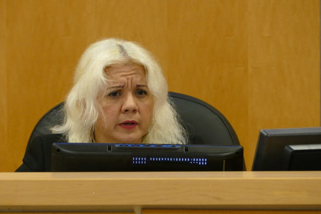 Myrnabelle Roche, Marco Island code enforcement magistrate, speaks during a code hearing July 28, 2020.