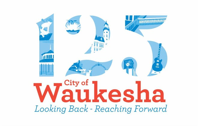 Sarah Sallmann of Waukesha designed this winning logo for the city's 125th anniversary celebration. The logo, selected by online voters from finalists named by a celebrations committee, is one of the first elements to be revealed in the city's emerging plans for the 2021 celebration.