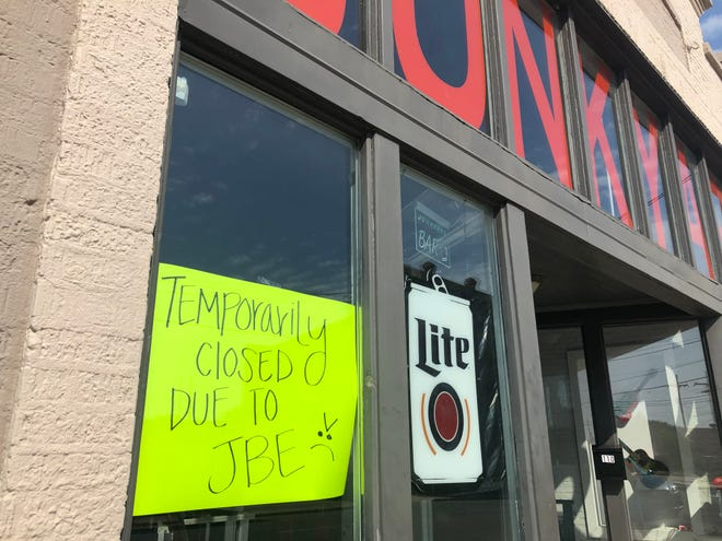 Junkyard Bar in downtown Monroe is closed as part of Louisiana Governor John Bel Edwards' COVID restrictions, as are bars across the state.