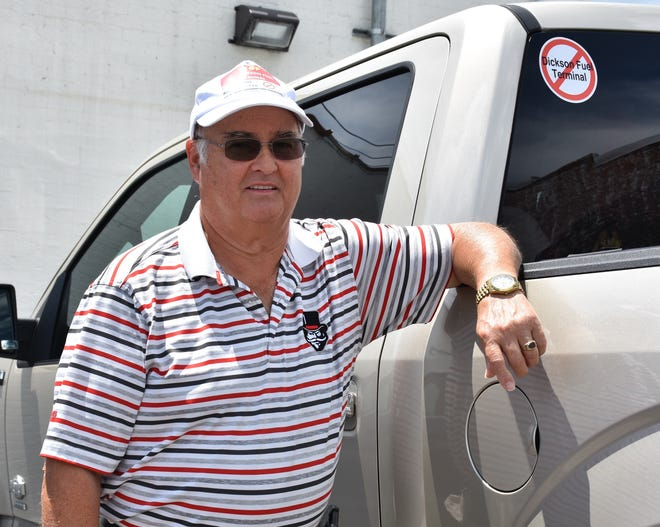 John Reuter, organizer of the Stop Dickson Fuel Terminal group and Turnbull Preservation Group.