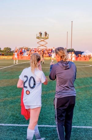 Michele Krzisnik played with the Michigan Hawks youth club when she was in youth soccer.
