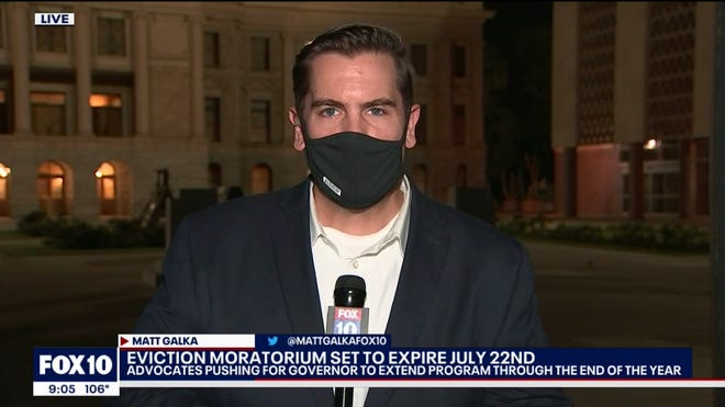 Fox 10 reporter Matt Galka, who tested positive for COVID-19.
