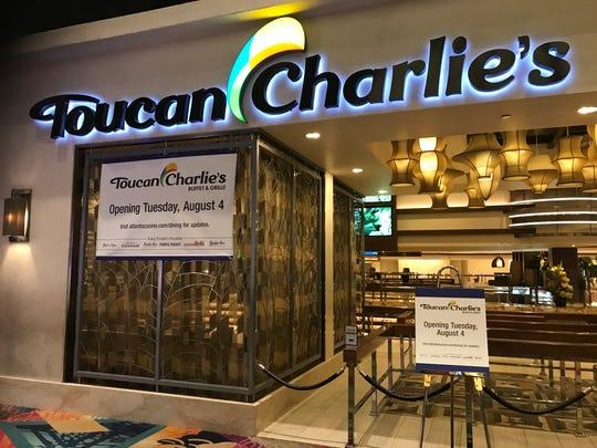 Di kasino Atlantis, Toucan Charlie's Buffet & Grille akan dibuka kembali pada 4 Agustus, prasmanan kasino pertama di Reno dan Sparks untuk melakukannya di bawah arahan keselamatan coronavirus.
