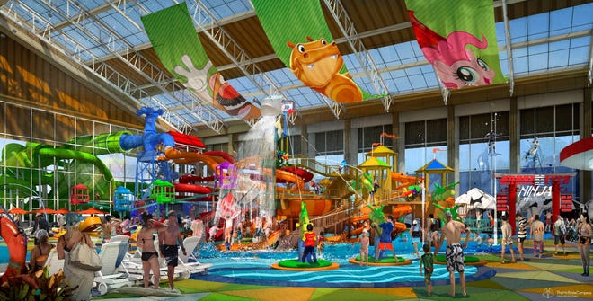 On July 29, 2020, Imagine Resorts & Hotels released this rendering of a themed family waterpark being developed as part of a planned $300 million resort in the town of Hollister, just south of Branson, Missouri.
