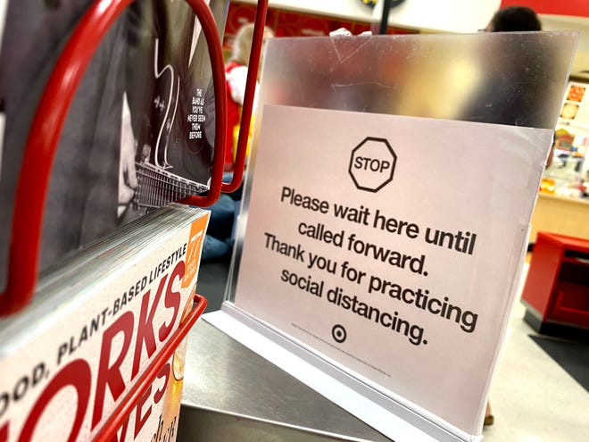 Reporter Laura Peters checked out the Target in Waynesboro July 29 on how the store is doing with social distancing and mask wearing.