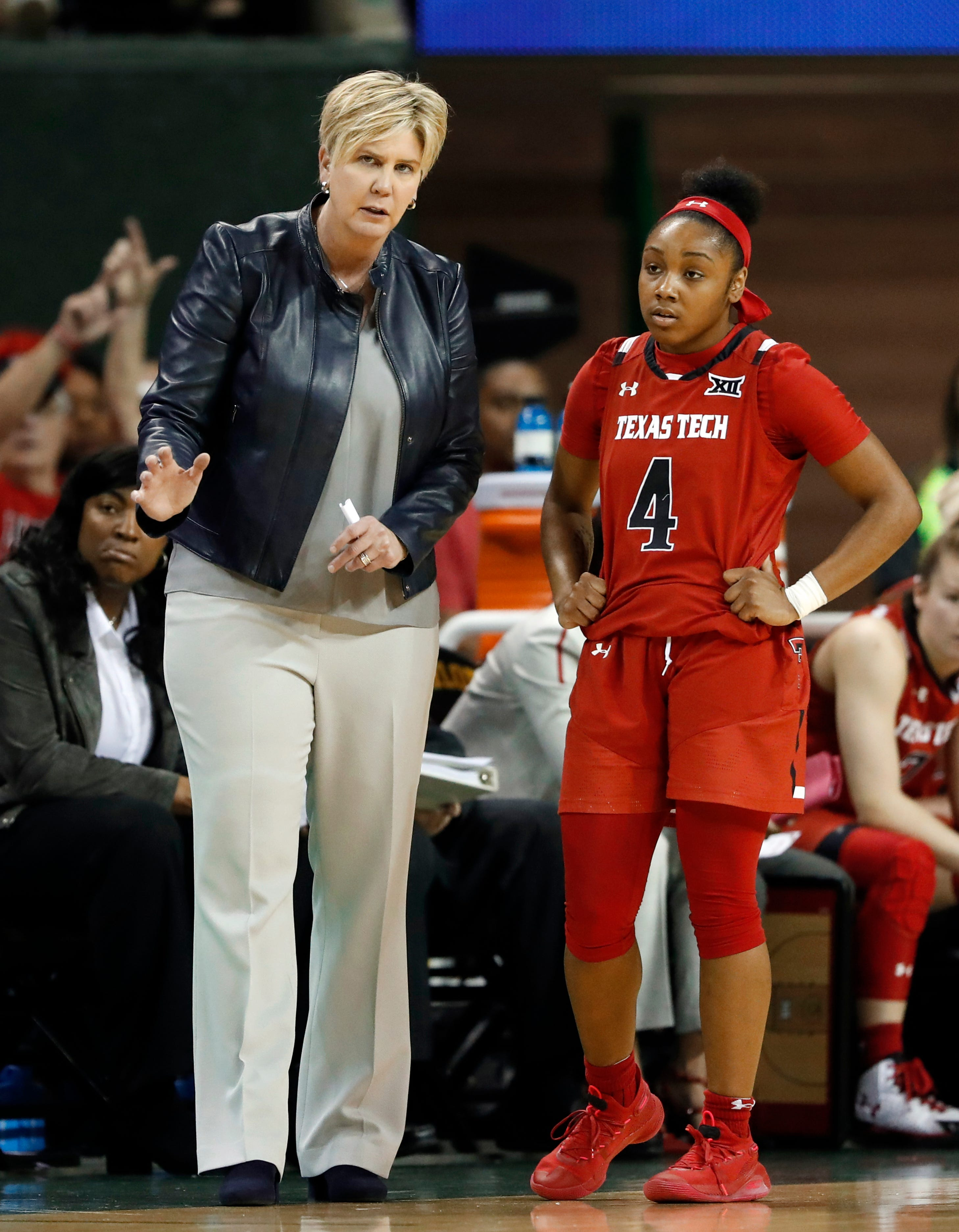Marlene Stollings has a career record of 164–117 as coach at five schools, including 31-27 at Texas Tech.