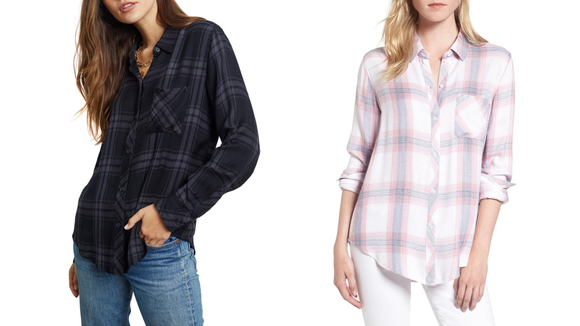Celebrity Fitness: The coziest flannel.
