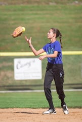 Kendall Kemm, who lost the use of her left arm after undergoing treatment for a brain arteriovenous malformation, gets ready to throw a softball.
