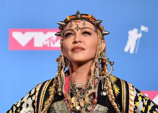 """Madonna's Instagram account has been flagged for spreading """"False Information."""""""