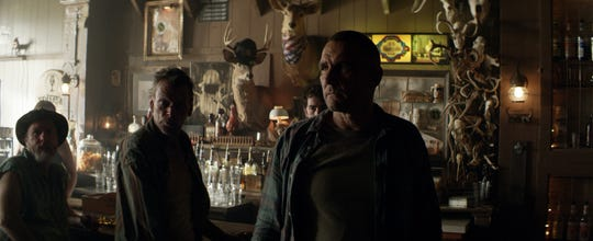 """Vinnie Jones (right) stars as an English gangster who runs afoul of some West Virginia locals in """"The Big Ugly."""""""