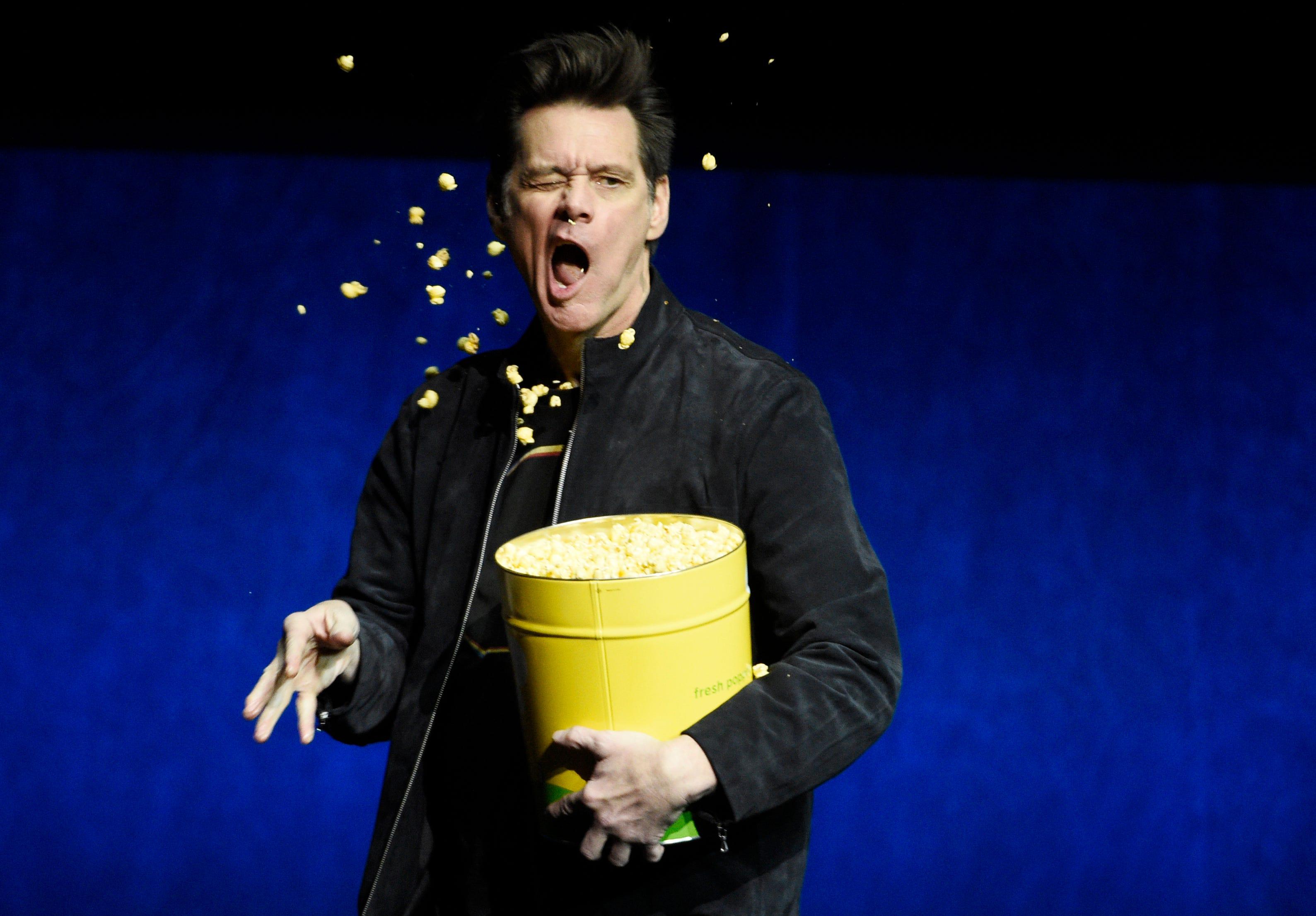 Jim Carrey retires from political cartoons now that Donald Trump ( Orange Julius Caesar ) is no longer president