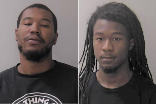 Javier and Jahsir Claybrooks were arrested in connection to a robbery in Liberty on June 24.