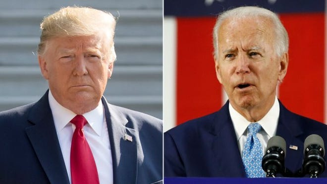 President Donald Trump and Joe Biden, Democratic nominee for president.