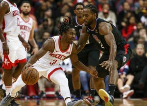 Houston Rockets guard Chris Clemons (3) is among 39 players with ties to North Carolina set to participate in the NBA's resumption of the season.