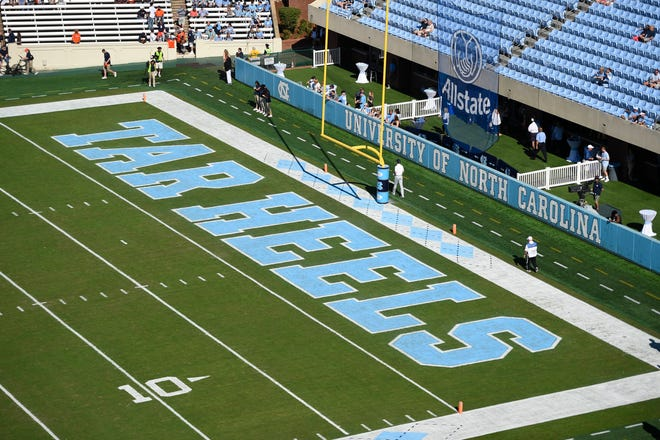 Oct 14, 2017; Chapel Hill, NC, USA; A general view of the field at Kenan Memorial Stadium. Mandatory Credit: Bob Donnan-USA TODAY Sports