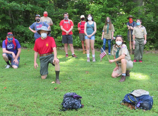 Members of Troop 9 recently completed Rank Advancements and had fun hiking at Lake Michael, Mebane. The Scouts recorded all animals observed and had a hot dog cookout. [SUBMITTED PHOTO]