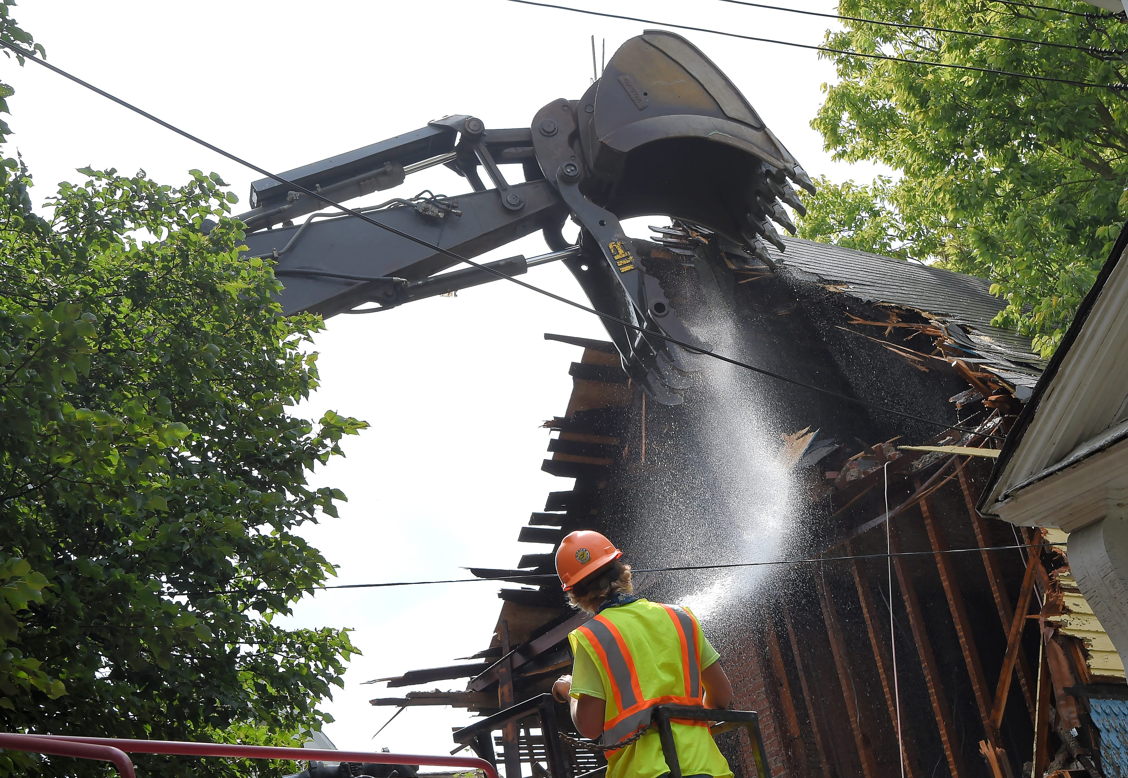 The Sturges St., Binghamton, house where Cheri Lindsey was murdered in 1984 was demolished on Thursday, July 30, 2020.