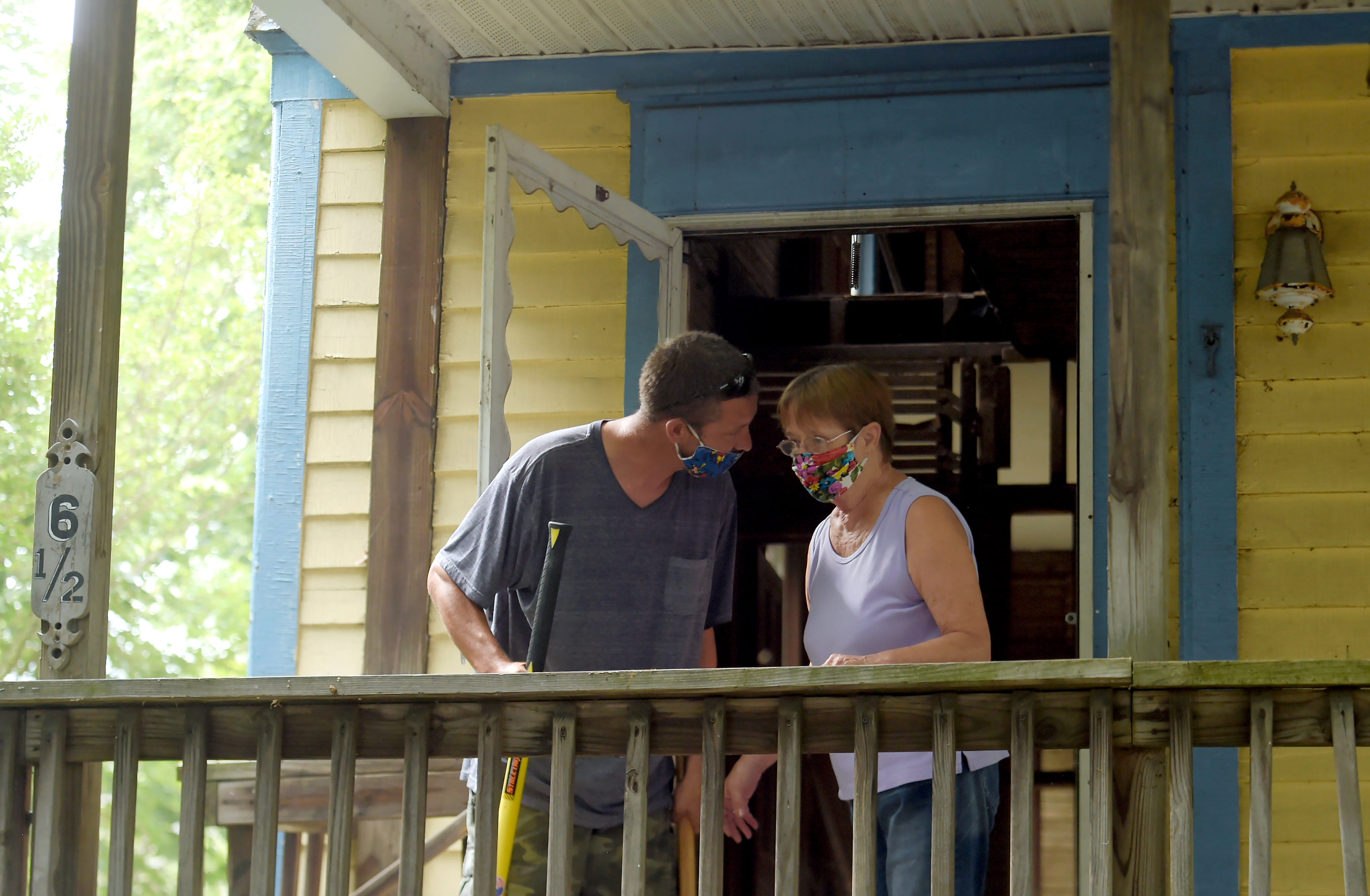 Dave and Jean Lindsey, brother and mother of Cheri Lindsey, who was murdered in 1984, after knocking down the door of the Sturges St., Binghamton, house where Cheri was murdered. Thursday, July 30, 2020.
