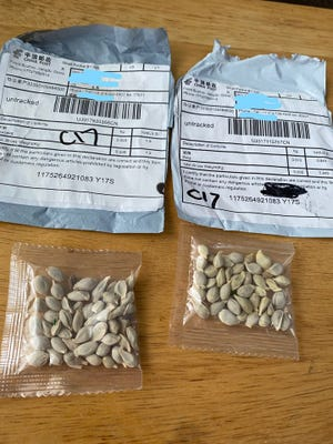 The New Jersey Department of Agriculture has received reports of individuals receiving unsolicited seeds through the mail from China.